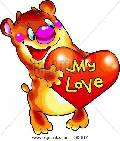 Cheerful Bear With Heart..Eps