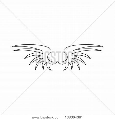 Wing icon in outline style isolated vector illustration