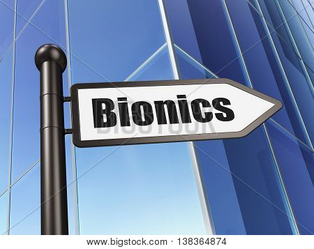 Science concept: sign Bionics on Building background, 3D rendering