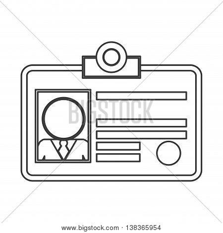 flat design office ID icon vector illustration