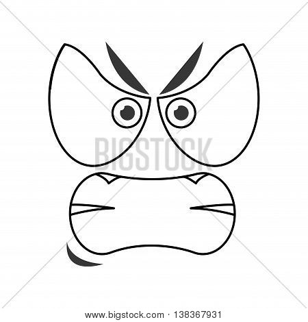flat design angry emoticon face icons vector illustration