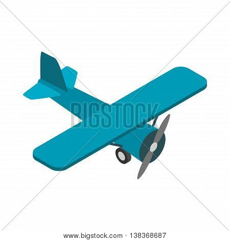 Light aircraft icon in isometric 3d style isolated on white background. Air transport symbol