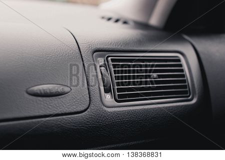 air conductor car . conditioner grille close up.