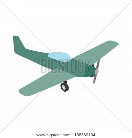 Small plane icon isolated on white background. Air transport symbol