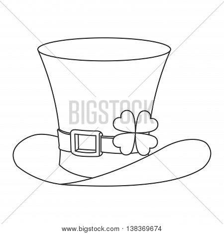 flat design leprechaun hat icon vector illustration