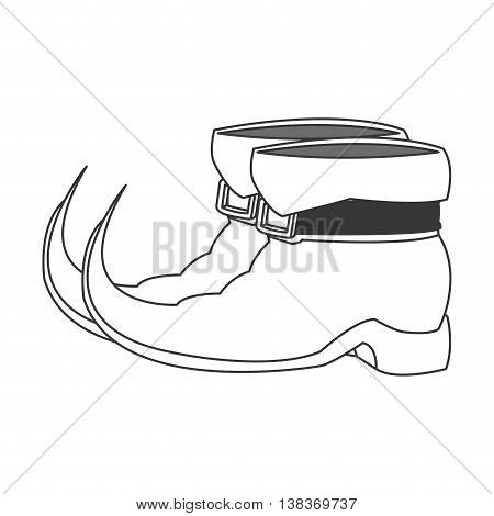 flat design leprechaun boots icon vector illustration