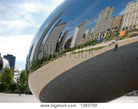 Chicago Skyline Reflection