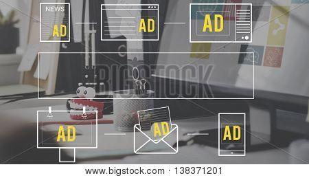 Advertiseting Commercial Marketing Digital Branding Concept