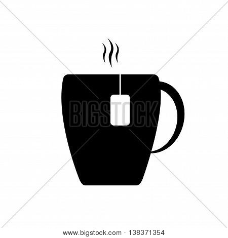 Mug illustration. Mug icon. Cup of tea. Vector.