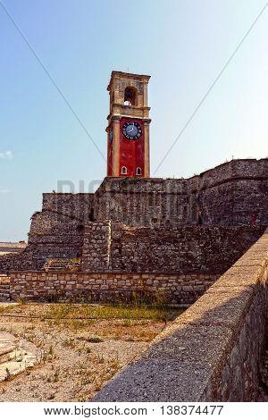 Beautiful view of Old Fortress, Corfu. GREECE.