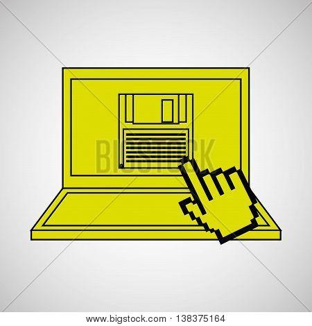 technology e-commerce buy online isolated, vector illustration eps10