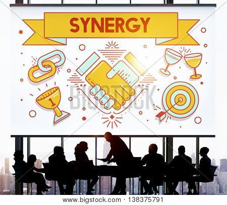 Synergy Collaboration Cooperation Teamwork Concept