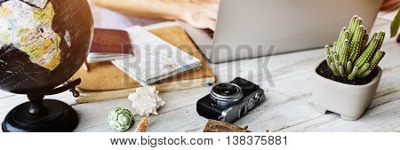 Summer Starfish Camera Vacation Holiday Trip Concept