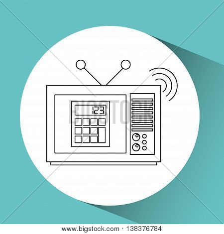 tv notice information isolated, vector illustration eps10