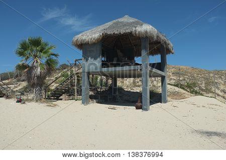 Palapa on beach, San Jose del Cabo, Baja California Sur, Mexico