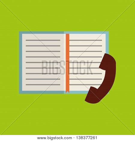phone book notebook adress isolated, vector illustration eps10