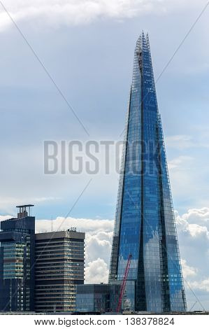 View Of The Shard In London, Uk