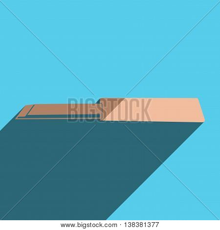 Flat icons with shadow of blade. Vector illustration