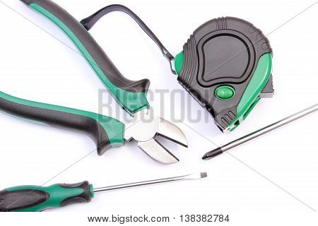 Work Tools For Engineer On White Background