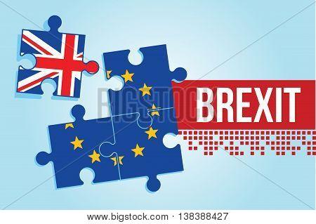 eu british referendum europe union exit britain break vector illustration