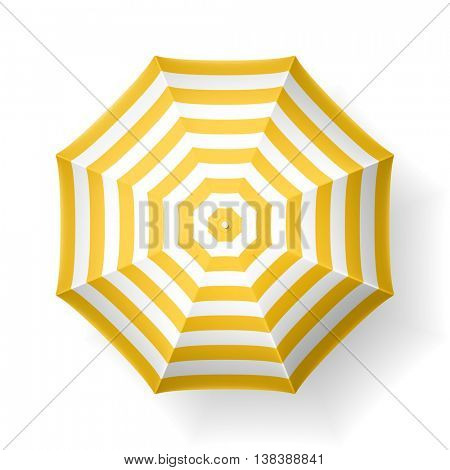 Beach umbrella, top view. Vector illustration.