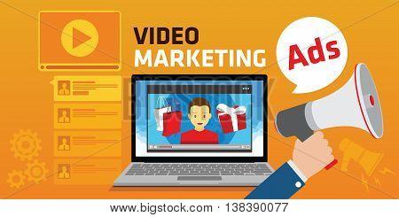 viral video marketing youtube advertising webinar concept