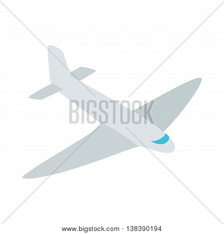 Passenger plane icon in isometric 3d style isolated on white background. Air transport symbol