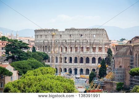 Colosseum And Roman Forum, Rome, Italy