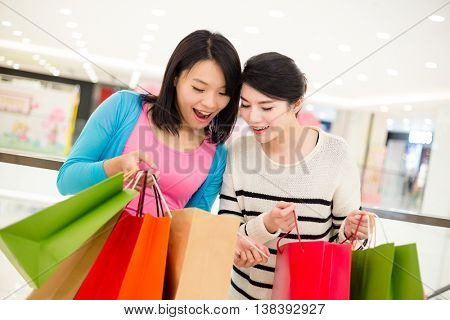 Two Women holding lots of shopping bag