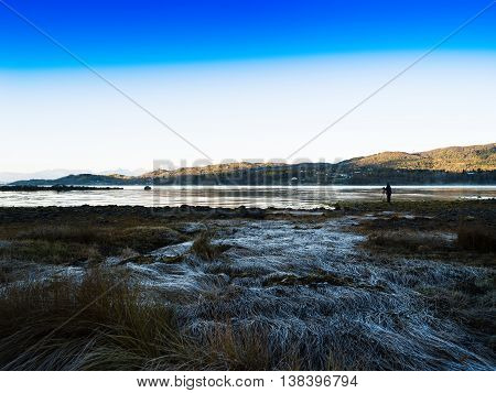 Shooting Beauty Of Autumn Norway Lofoten Islands Landscape Backg