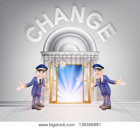 Door To Change And Doormen