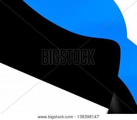 Flag of Estonia. 3D Illustration. Close Up.