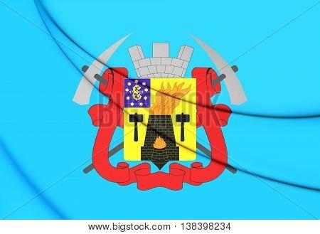 Flag Of Lugansk, Lugansk People's Republic. 3D Illustration.