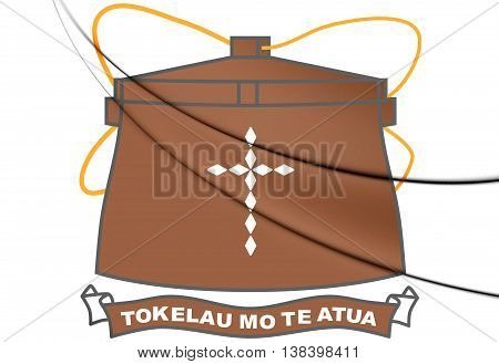Tokelau Coat of Arms. 3D Illustration. Close Up.