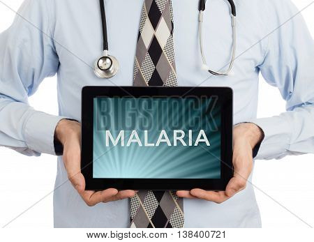 Doctor Holding Tablet - Malaria