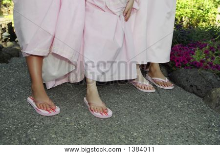 Bridesmaid'S Legs
