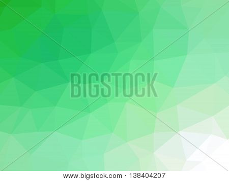 Green white gradient polygon shaped background for professional use.