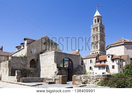 Cathedral of Saint Domnius and Diocletian Palace in Split Dalmatia Croatia