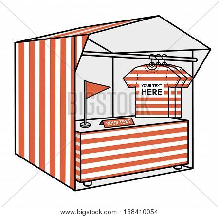 tent for trade. the red stripes vector