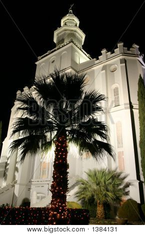 St. George Temple At Night
