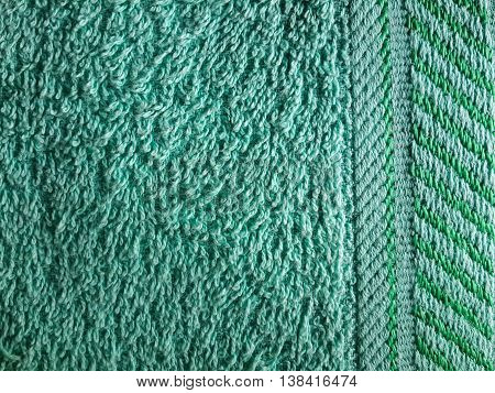 close up green fabric textile texture for background