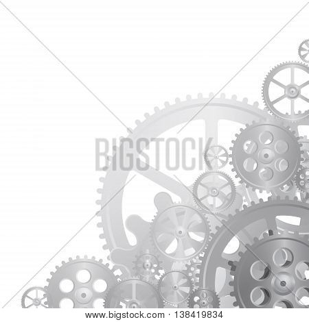 stell gears on the white background vector illustration clip-art