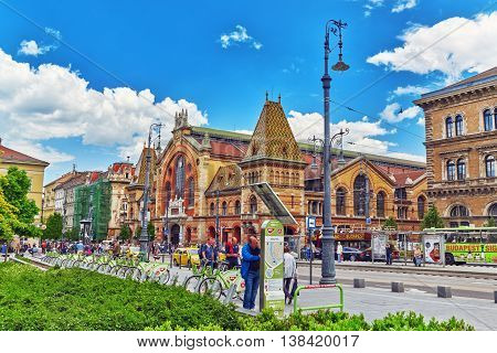 Budapest, Hungary-may 06, 2016: Great Market Hall- Largest And Oldest Indoor Market In Budapest, Peo