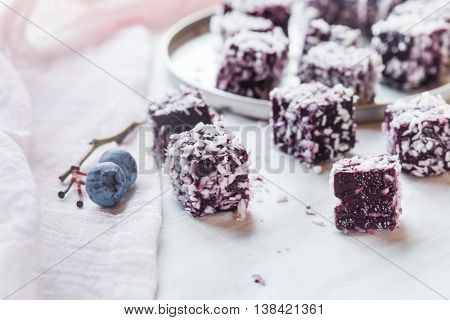 homemade berry gelatin dessert