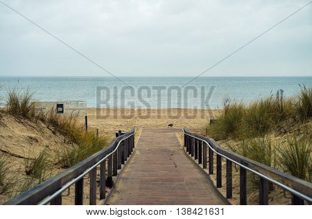 way to the beach in Ahlbeck, Usedom Island Germany