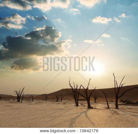 Dead valley on sunset