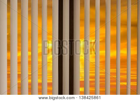 Window Blinds Sunset