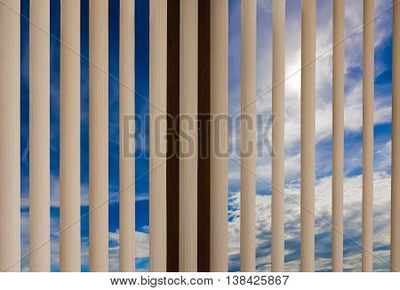 Window Blinds Cloud Sky