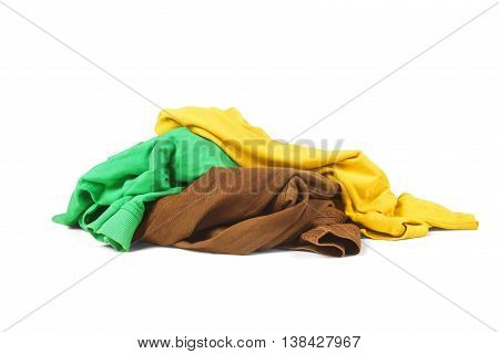 a pile of clothes isolated on a white background