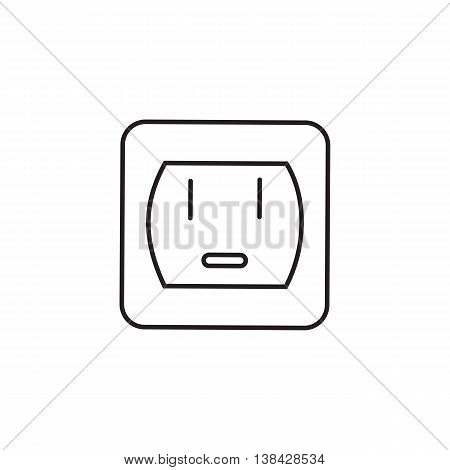 Power Socket vector icon. Universal Power Socket vector icon to use in web and mobile UI energy basic UI element. Vector illustration